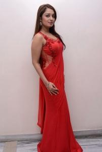 Actress Nikitha Hot Stills in Red Dress
