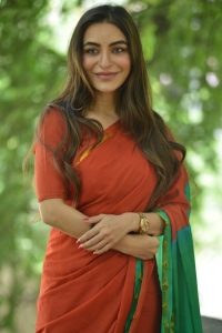 Actress Nikkesha Saree Images @ Missing Movie Promotional Song Launch