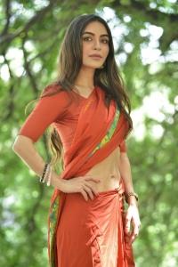 Actress Nikkesha Saree Images @ Missing Movie Press Meet