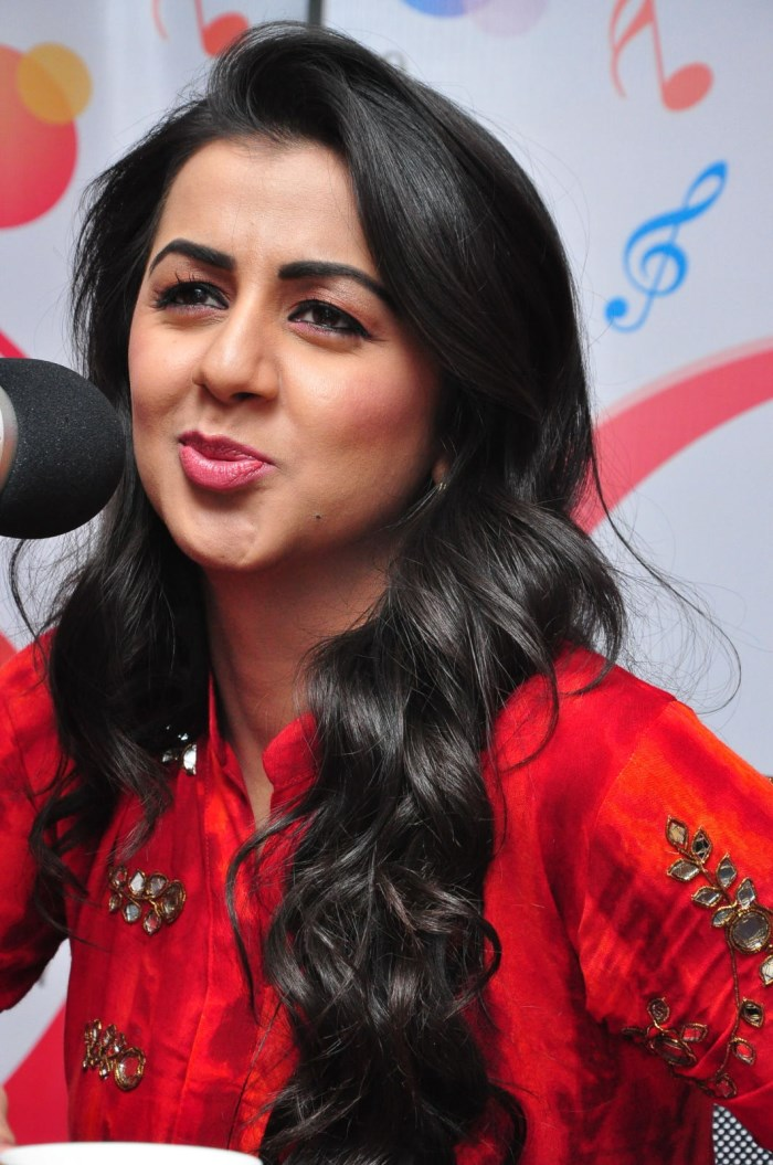 Actress Nikki Galrani at 91.1 FM Radio City, Hyderabad