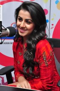 Actress Nikki Galrani at 91.1 FM Radio City, Hyderabad