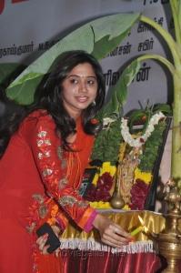 Aarthi Jayam Ravi at Nimirndhu Nil Movie Launch Stills