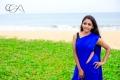 Actress Nimmy Blue Saree Photoshoot Stills