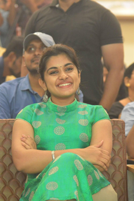 Heroine Nivetha Thomas @ Ninnu Kori Blockbuster Celebrations in Vijayawada Photos