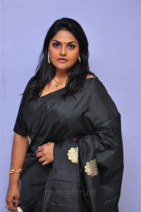 Actress Nirosha Images in Black Saree