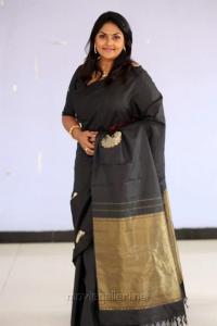Actress Nirosha Ramki in Black Saree Images