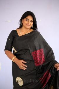 Actress Nirosha Black Saree Images