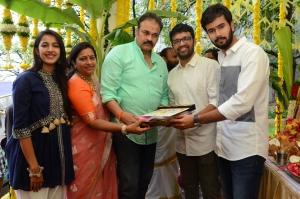 Niharika, Nagababu, Pranith Bramandapally, Rahul Vijay @ Nirvana Cinemas Production No 1 Movie Opening Stills
