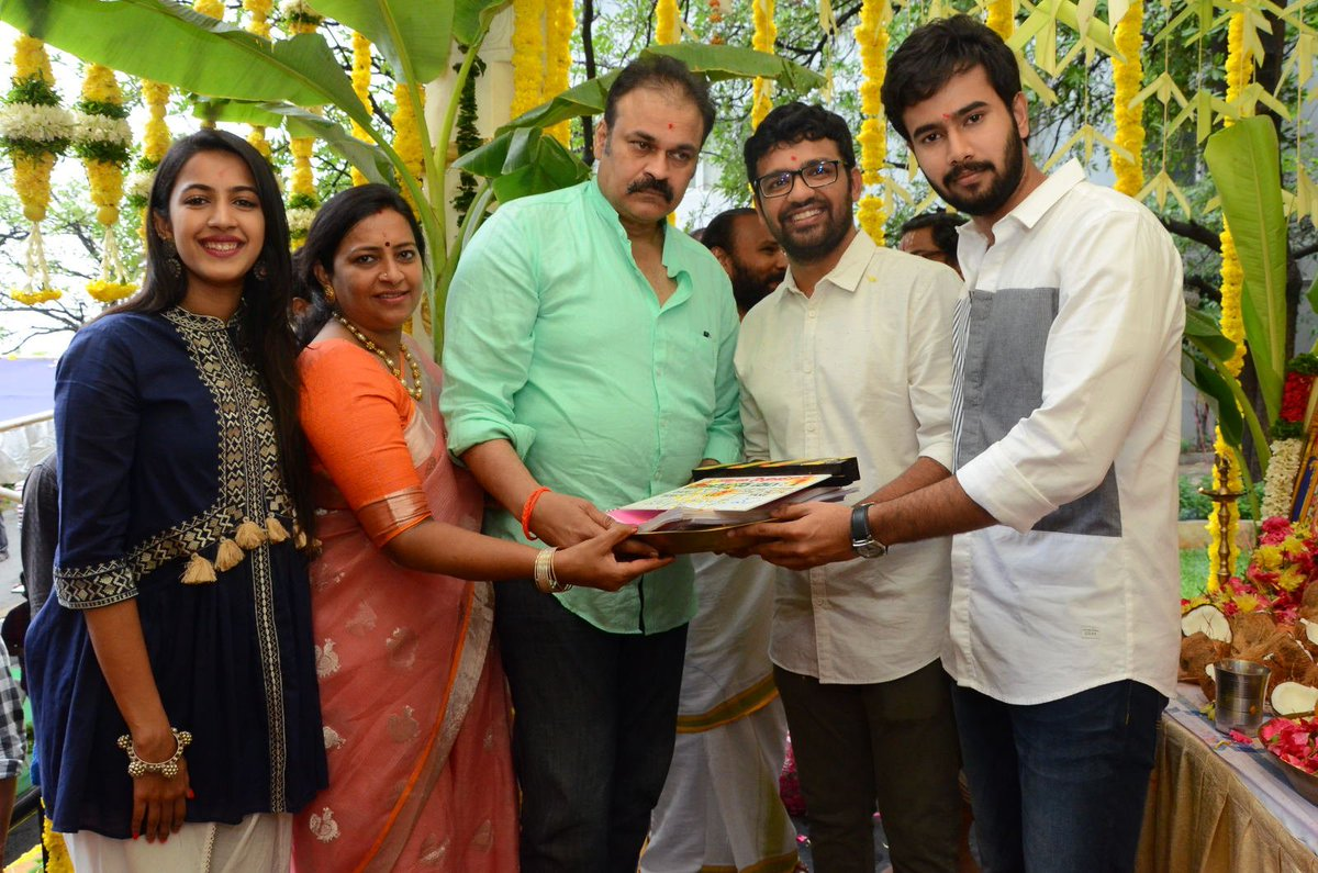 Niharika, Nagababu, Pranith Bramandapally, Rahul Vijay @ Nirvana Cinemas Production No 1 Movie Opening Stills