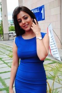 Nisha Agarwal in Blue Dress