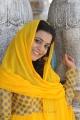 Telugu Actress Nisha Agarwal Cute Pics in Yellow Churidar Dress