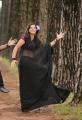 Telugu Actress Nisha Shah Hot Black Saree Photos
