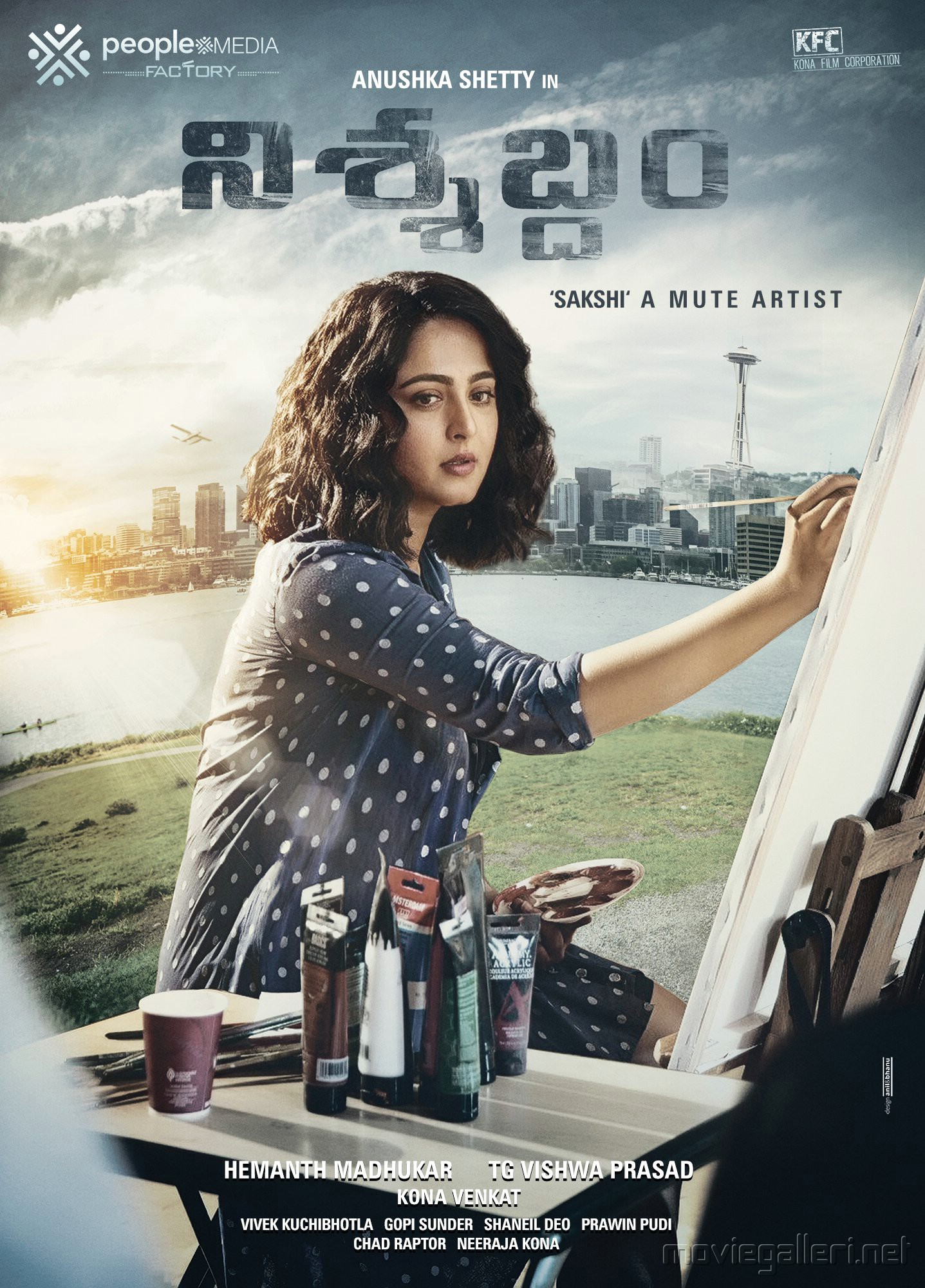 Nishabdham Anushka Movie First Look Poster HD