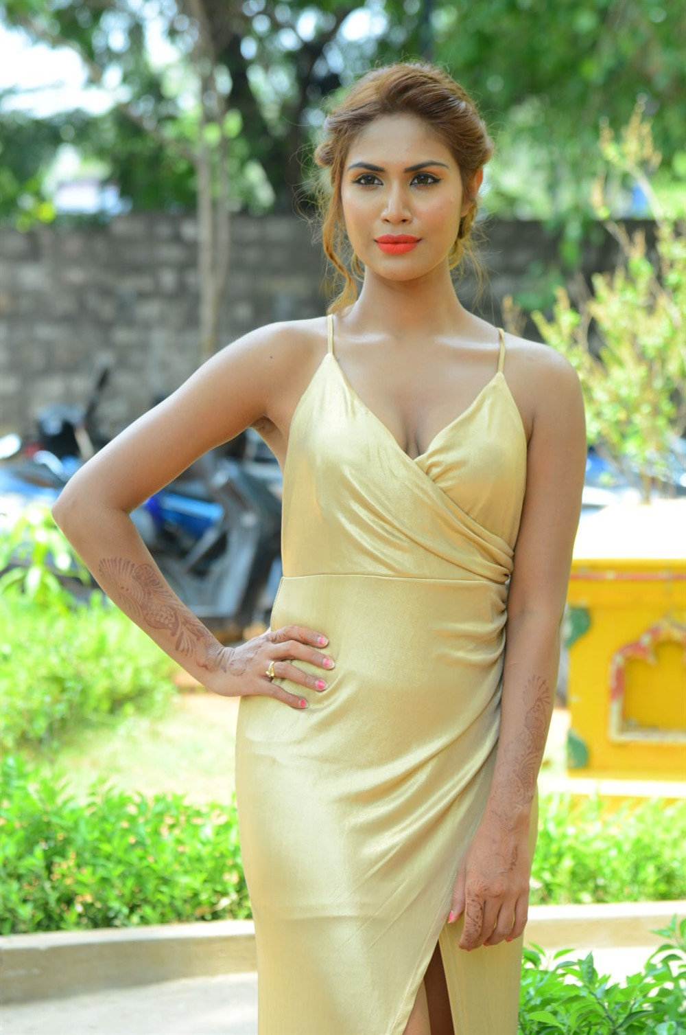 Actress Nishi Ganda Hot Stills @ Captain Rana Pratap Movie Audio Launch