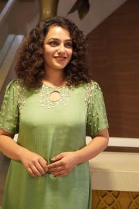 Actress Nithya Menen New Pics @ Ninnila Ninnila Press Meet