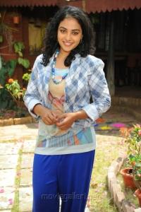 Cute Pics of Nithya Menon at Okkadine Press Meet