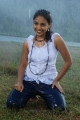 Actress Nithya Menon Rain Song Hot Wet Photos