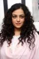 Actress Nithya Menon Photos in Pink Churidar @ Gaze - Solo Show by Gnana Shekar