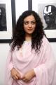 Nithya Menen Photos in Pink Churidar @ Gaze - Solo Show by Gnana Shekar