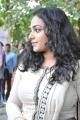 Actress Nitya Menon Photos in White Salwar Kameez