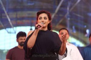 Actress Nithya Menon Images @ Janatha Garage Music Release