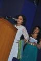 Tamil Actress Nithya Menon Cute Images in White Churidar Dress