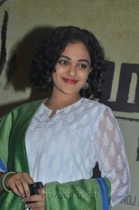 Nithya Menon Cute Images @ Malini 22 Palayamkottai Press Meet