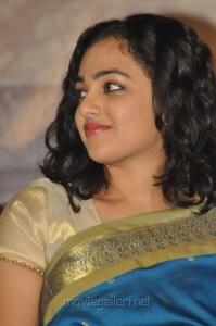 Actress Nithya Menon Saree Pictures @ Malini 22 Audio Launch