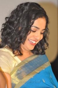 Actress Nithya Menon Saree Pictures @ Malini 22 Movie Audio Release