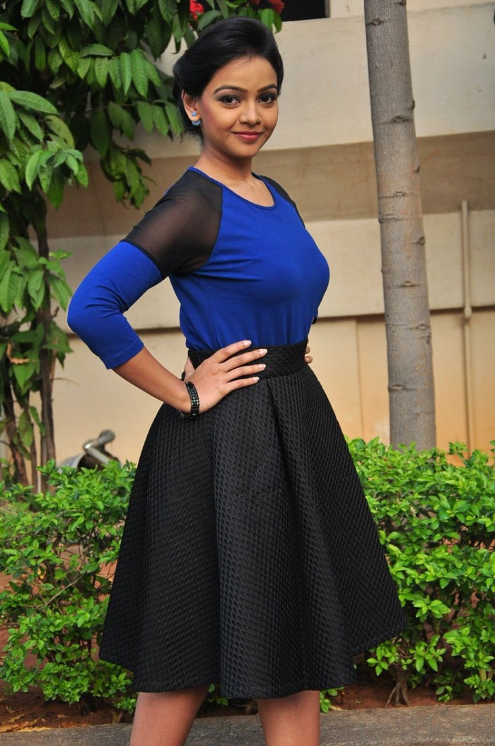 Picture 992029 | Actress Nitya Shetty Stills in Blue Top & Black ...
