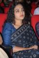 Nithya Menon in Black Saree Photos at Okkadine Audio Launch