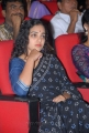 Nithya Menon Black Saree Photos at Okkadine Audio Release