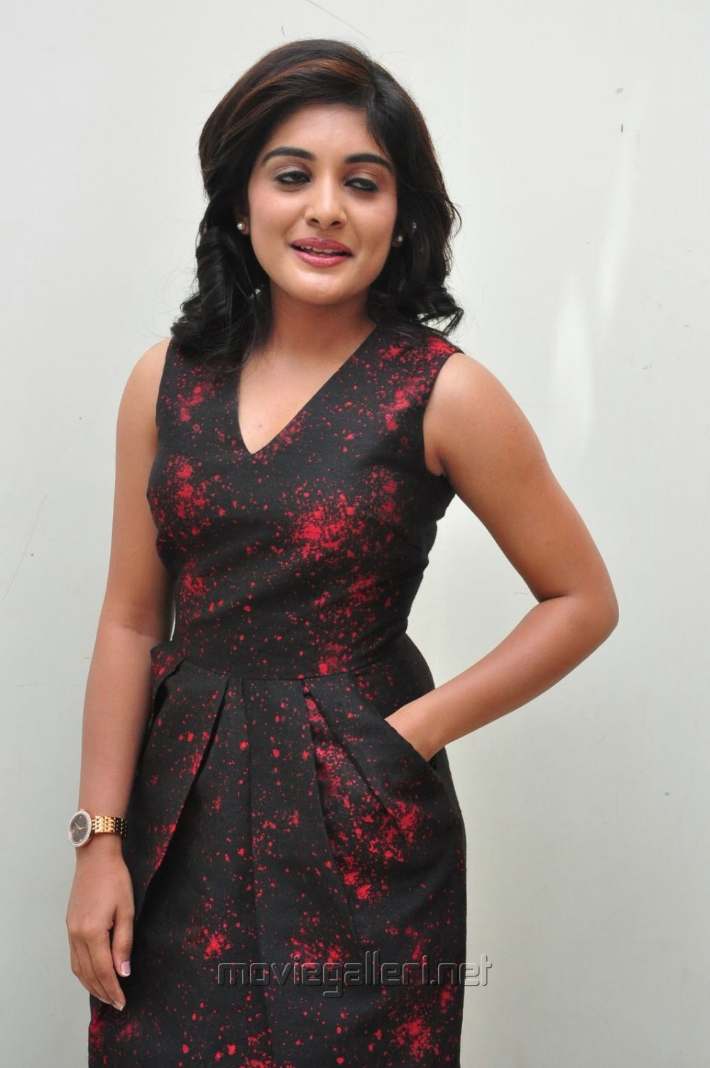 Actress Niveda Thomas in Red Dress Stills