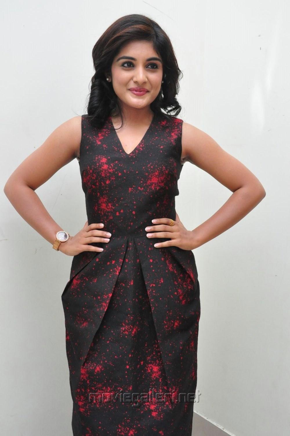 Actress Niveda Thomas in Red Dress Stills