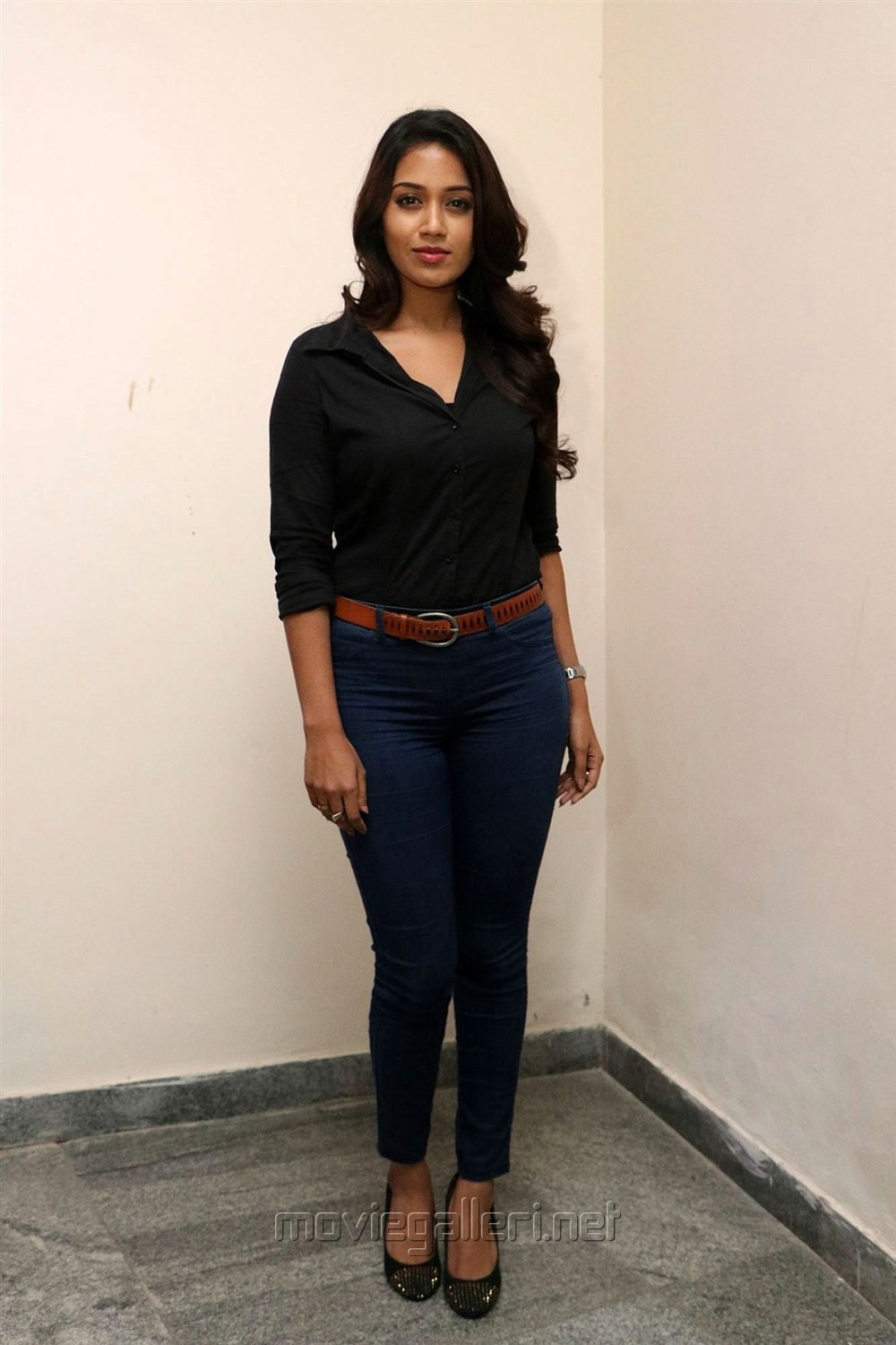 Picture 1215571 actress nivetha pethuraj latest images Black shirt blue jeans