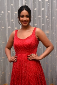 Paagal Movie Actress Nivetha Pethuraj in Red Dress Pictures