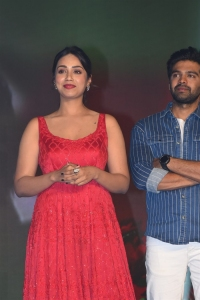 Paagal Movie Actress Nivetha Pethuraj Red Dress Pictures