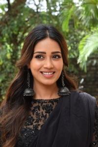Paagal Movie Heroine Nivetha Pethuraj Black Saree Stills