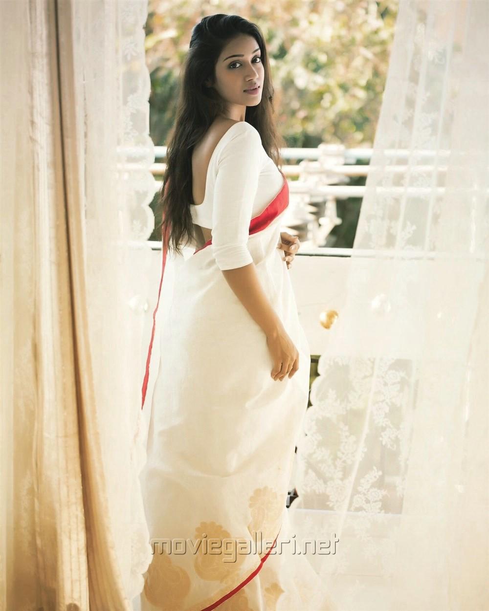 Actress Nivetha Pethuraj Saree