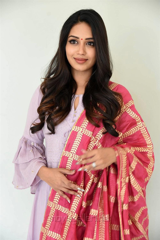Chitralahari Actress Nivetha Pethuraj Pics in Churidar Dress