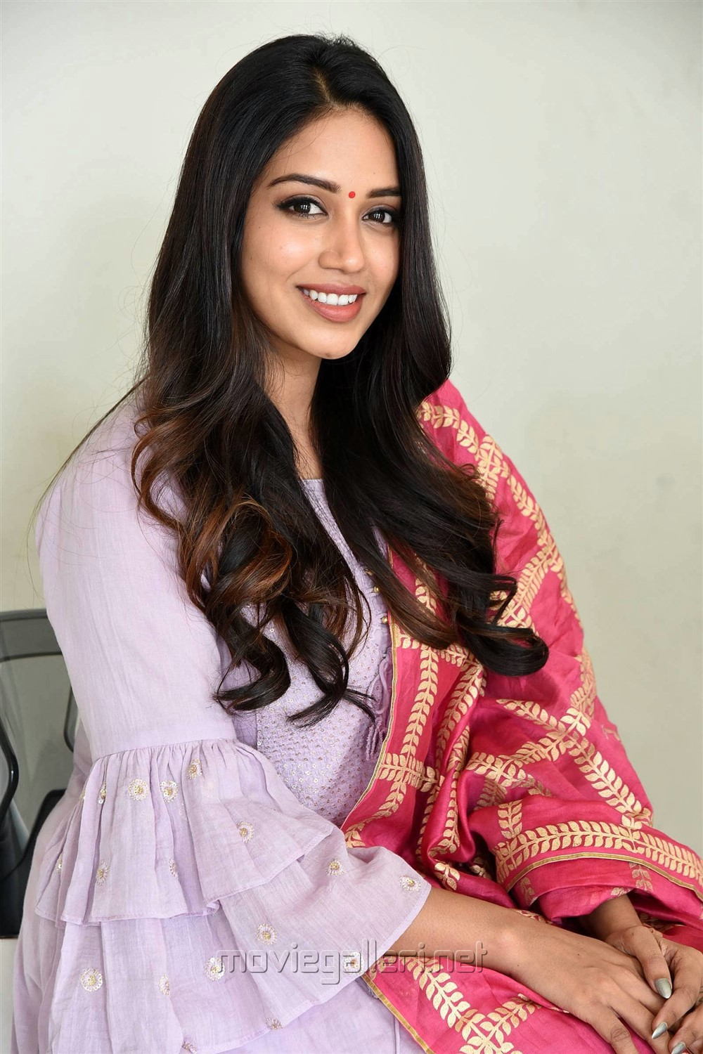 Chitralahari Actress Nivetha Pethuraj Pics in Churidar Dress
