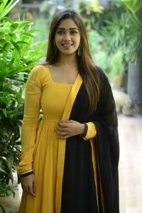 Actress Nivetha Pethuraj Salwar Kameez Photos @ Red Movie Interview