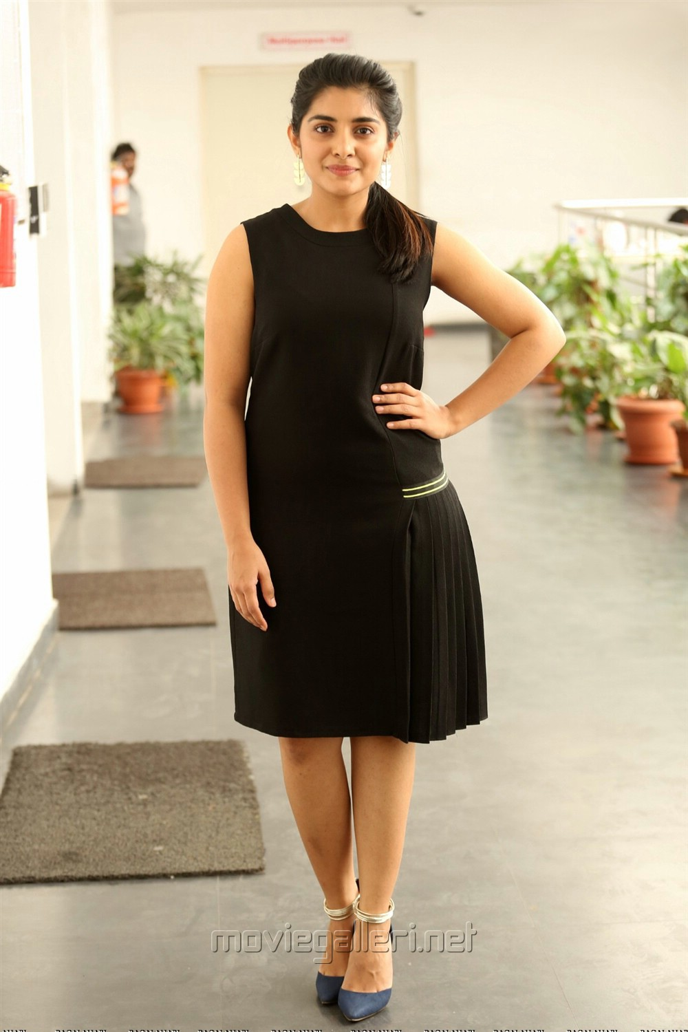 Actress Nivetha Thomas New Stills in Black Skirt
