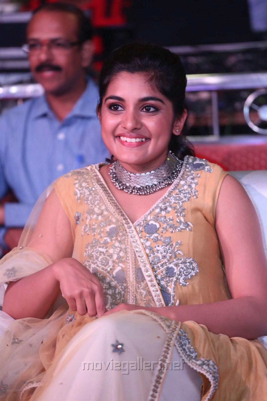 Actress Niveda Thomas Cute Smile Photos @ Ninnu Kori Pre Release Function