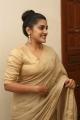 Actress Nivetha Thomas Cute Saree Pics @ Darbar Pre Release Function