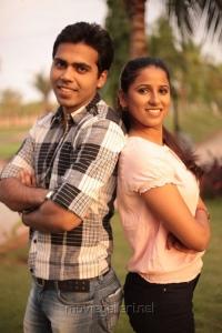 Rohit Kaliyar, Shravya Reddy in NRI Movie Stills