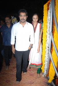 Jr.NTR with his wife Lakshmi Pranathi at NTR 17th Vardhanthi Photos