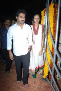 Jr.NTR with his wife Lakshmi Pranathi at NTR 17th Vardhanti Photos