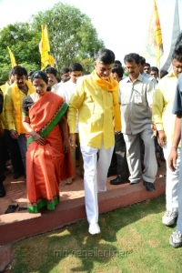 Chandrababu Naidu at NTR 90th Jayanthi Celebrations @ NTR Ghat Photos