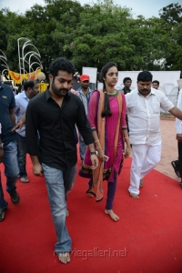 Jr.NTR, Lakshmi Pranathi at NTR 90th Jayanthi Celebrations @ NTR Ghat Photos